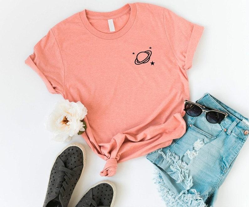 Space pocket shirt tumblr tshirt women graphic tee mens gift  496f2efad52a