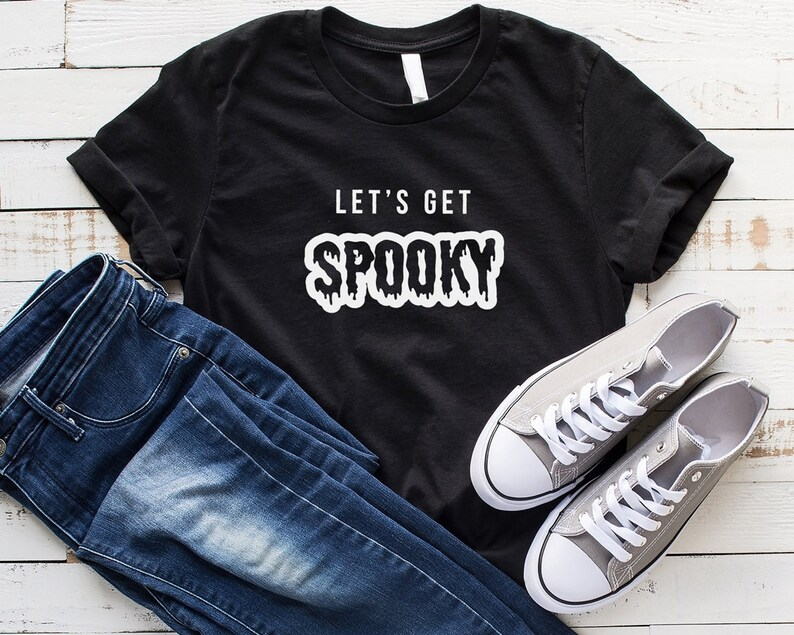 1fa7cf1f8 Lets get spooky halloween shirt women fall shirts with saying | Etsy