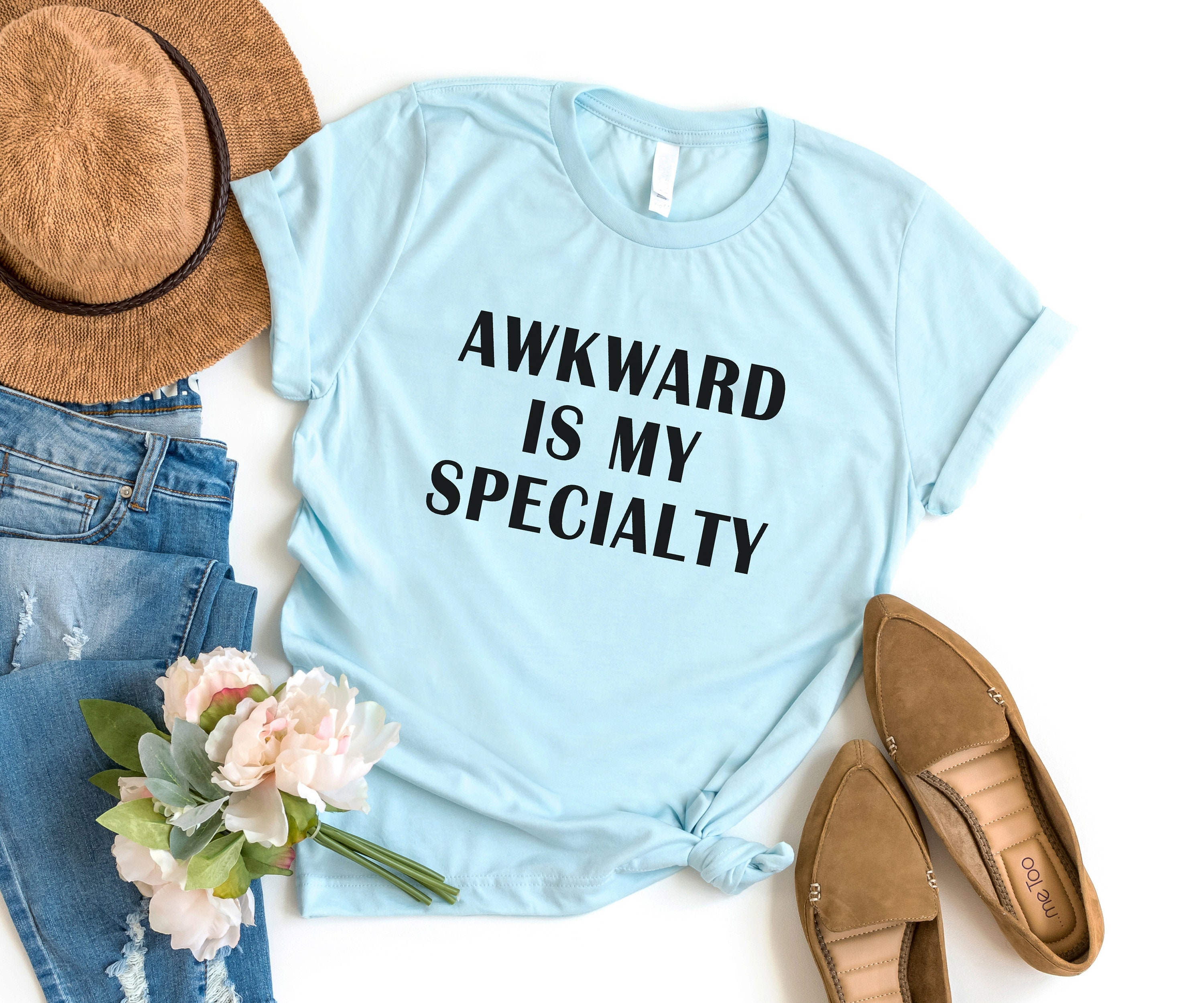 2007e5c39c32a Awkward is my specialty Funny TShirts Instagram Tumblr T Shirt Womens  Graphic Tees Shirts for Teens Girls Gifts Screen print TShirt
