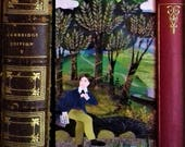 Bookmark·John Keats·Keats House·Collage·Bookworms Gift·Gift for Poetry Lovers·Poetry·Recycled Art·England·Amanda White Design·Illustration