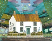 Coleridge, Greeting Card, English Romantics, Writers Houses, Literary Art, Naive, Coleridge Cottage, Recycled Art, Poetry, Amanda White, Art