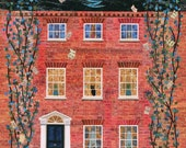 John Keats Greeting Card, Chichester, Literary, Sussex, St Agnes, Collage, Amanda White Design, Naive Art, England, English Literature, Poet