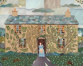 Beatrix Potter House Greeting Card, Hill Top, Writers' Houses, National Trust, Literary, Amanda White Design, Booklovers Card, Lake District