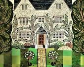 William Morris Print, Kelmscott Manor, Wall Art, Collage, England, Arts and Crafts, Pre-Raphaelites, Amanda White Design, Art Print, Oxford