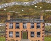 Brontë Sisters Greeting Card, Haworth Parsonage, Collage, Notecard, Naive, Amanda White Design, Brontë Country, Writers, Booklovers' Card
