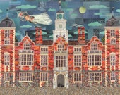 Blickling Hall Greeting Card, Haunted House, Stately Home, Anne Boleyn, Architecture, Ghosts, Norfolk, Collage, History, Amanda White Design