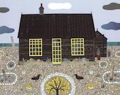 Derek Jarman·Prospect Cottage·Fine Art Print·Naive Art·Collage·Gift for Art Lovers·Dungeness·Seaside·Writers House·Beach Garden·Coast Art