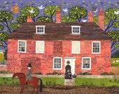 Jane Austen Greeting Card, Chawton Cottage, Writers Houses, Booklovers Card, Amanda White Design, Literary Card, Pride and Prejudice, Garden