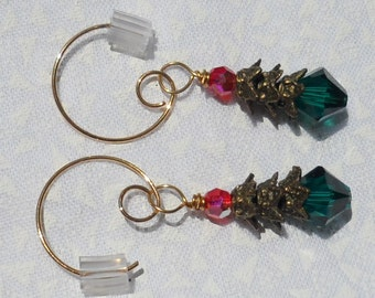 Christmas Tree Earrings.