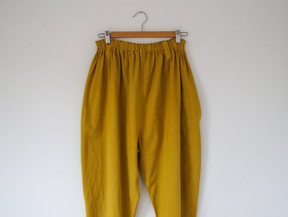 1990s mustard yellow baggy trousers / 'Wicked' ela