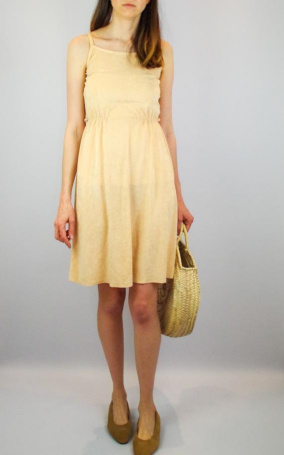 1970s peach terry towelling midi dress / vintage … - image 7