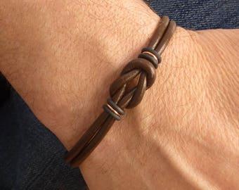 Best Selling Celtic Bracelet, Unisex Bracelet, Mens Brown Leather Bracelet, Celtic Leather Bracelet, Copper Bracelet for Men, Brown Bracelet