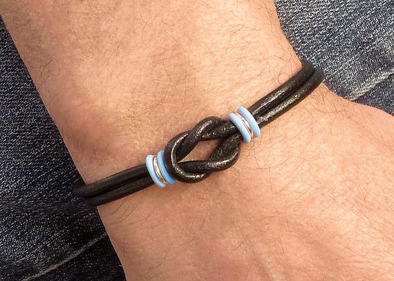 Mens Prostate Cancer Bracelet His Cancer Awareness
