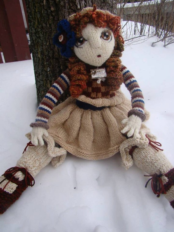 Pattern For Clementine Raggedy Lottie Ragdoll Doll Knitted Doll