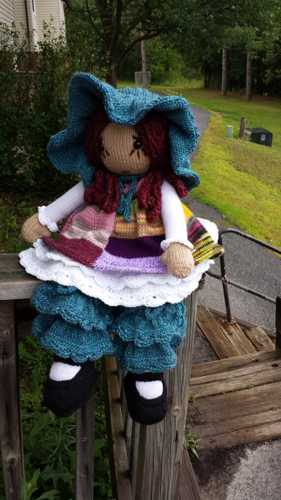Bella Dorella Raggedy Lottie Ragdoll Doll Knitted Doll Pattern Etsy