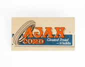 Circa 1920's Ajax Cord Tires Advertising Ink Blotter With Tire Graphic / Ajax Rubber Co., New York, New York.