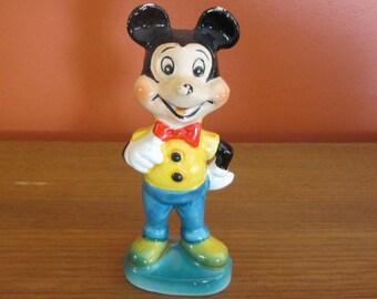 1960 Mickey Mouse Ceramic Walt Disney Figure, Wales Pottery