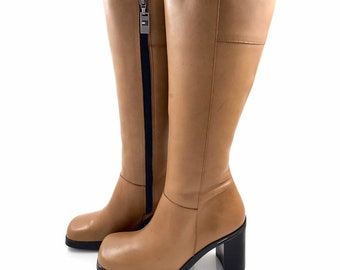 c3022ad42 90 s TOMMY HILFIGER knee high leather boots