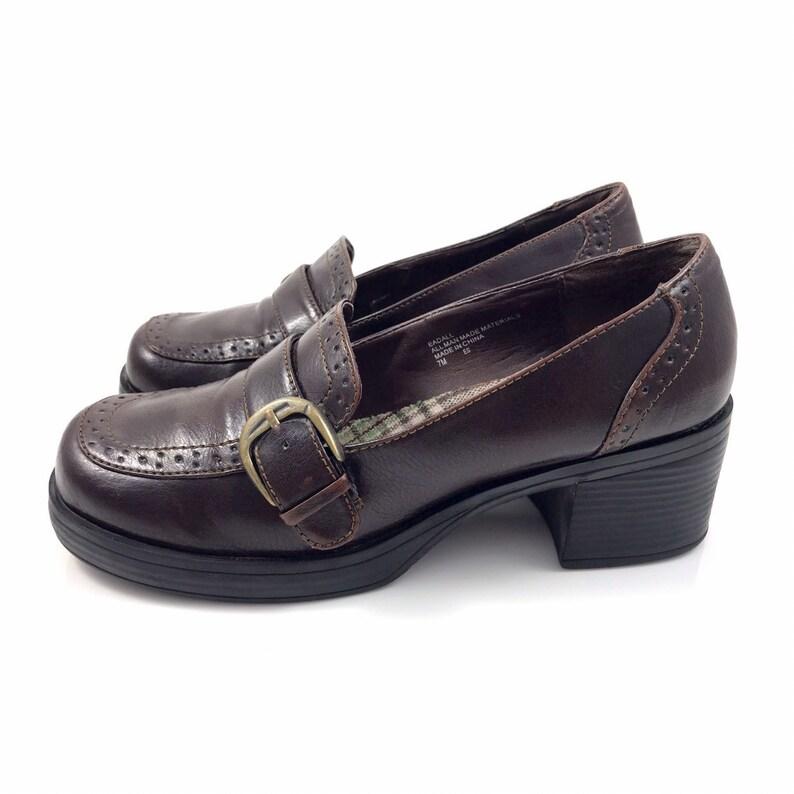 036ee87e213 90's MUDD brown vegan platform loafers