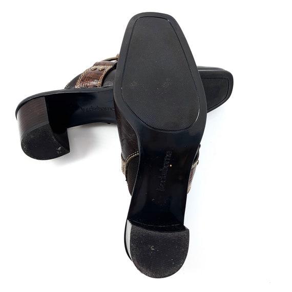 Vintage 90's LIZ CLAIBORNE brown leather horsesho… - image 8