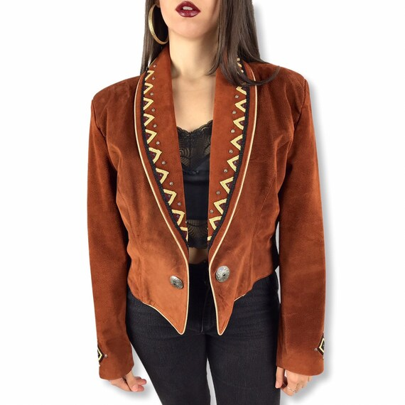 1970's beaded suede cowgirl jacket
