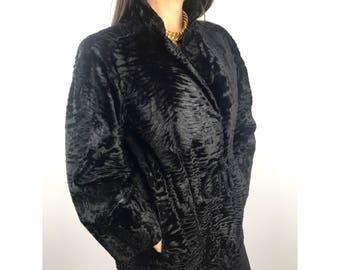 Vintage Persian Lamb Fur Coat by FLEMINGTON FURS