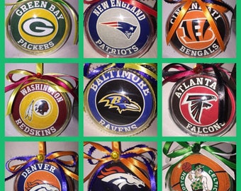 5 nfl ornaments of your choice