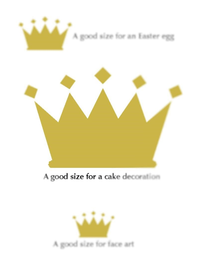 Stencil Gold King Crown Cake Topper label wall stencils | Etsy
