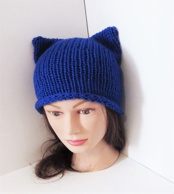 17af2569630 Royal Blue Cat Hats Cat beanie Animal Beanie Hat Kitty