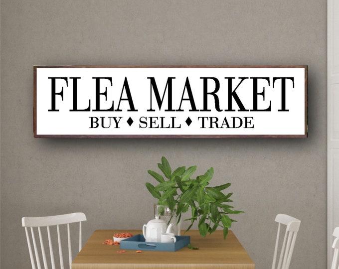 Large Farmhouse Decor, Home Decor, Farmhouse Wall Decor, Large White Farmhouse Sign, Large Wood Sign, Flea Market Sign, White Signs
