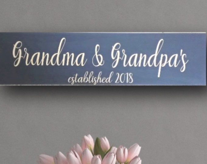Personalized Gift For Grandma, Christmas Gift for Grandma, Grandma and Grandpa Sign, Grandma Sign, Personalized Grandma Sign, Gift Nana