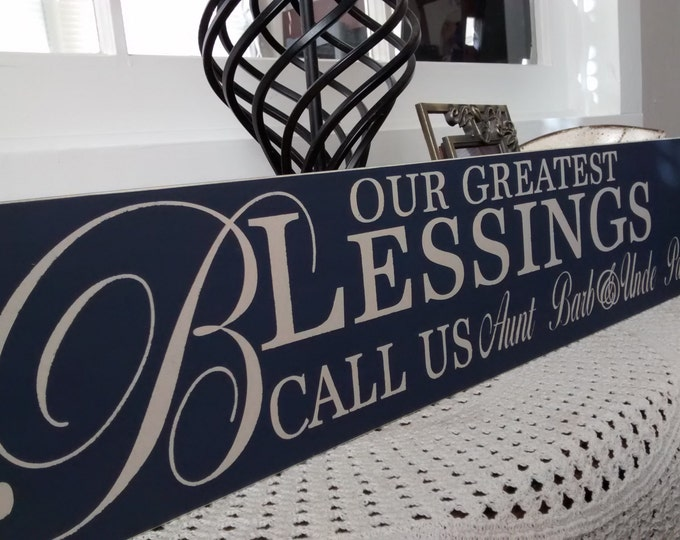 Personalized Gift for Grandparents, Nonna, Nana And Papa Sign, Personalized Grandparent Names, Our Greatest Blessing Call Us, MiMi Gift