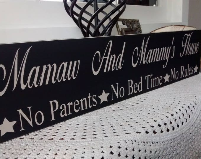 Grandparents Gift, Grandparents Day Gift, Grandparents Day, Grandparents Rules, Nana And Papa, Nana, Papa, No Parents, No Bed Time, No Rules
