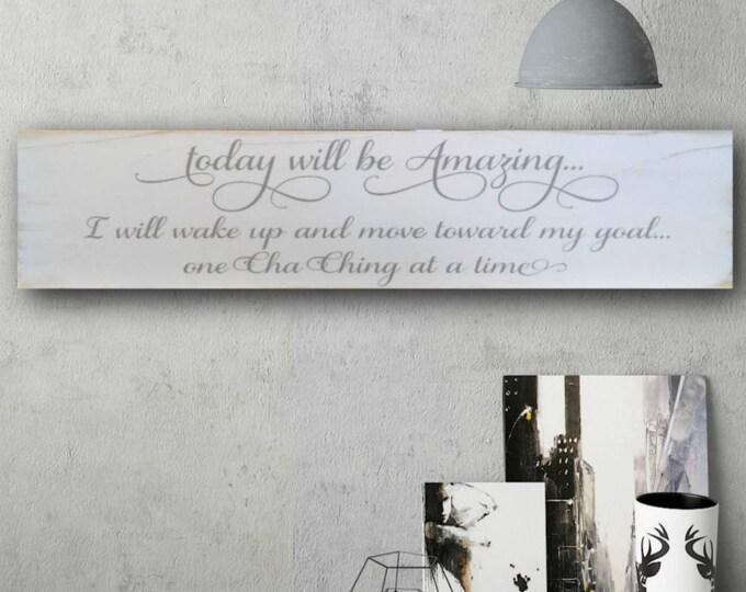 Cha Ching, Cha-Ching Sign, Painted Signs, Etsy Seller Gift, Etsy Seller, Etsy Sign, Store Sign, Motivational Signs, Kerching, Etsy Wall Art