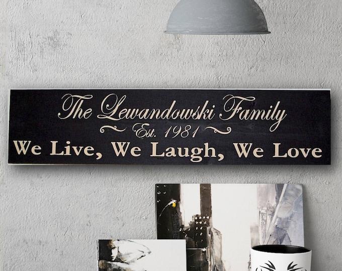 Family Name Established Sign, Family Name Sign Wood, Established Date Sign, Family Sign, Personalized Sign, Wedding Gift, Last Name Sign