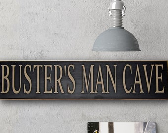 Fathers Day Gift Gift For Father Man Cave Add A Name Man Cave Sign Man Cave Decor Manly Gift Hand Painted Man Gift Man Cave Stuff