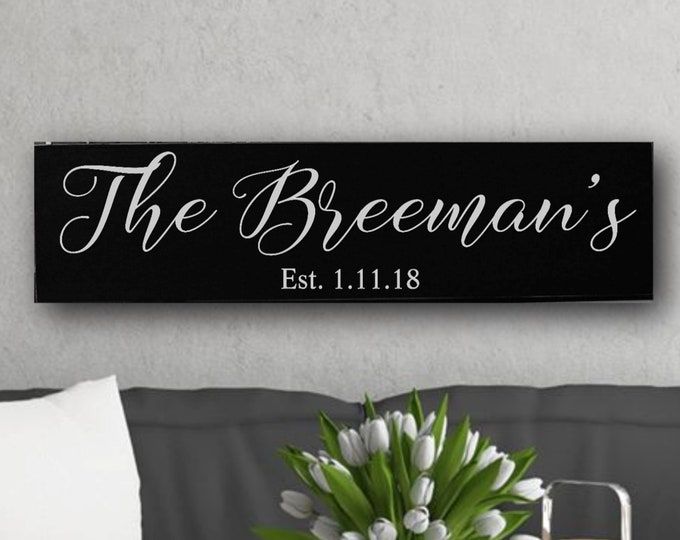family established sign, personalized wedding gift for couple, custom last name established sign, Christmas gifts for mom, anniversary gifts