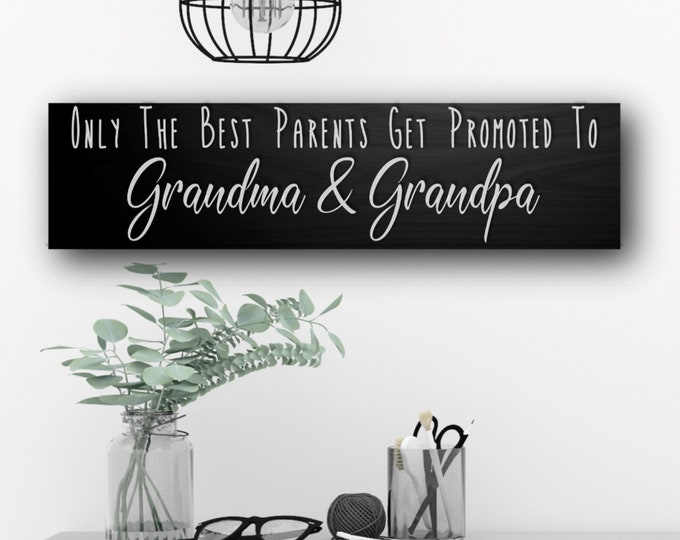 Pregnancy reveal to Grandparents, New Grandma Gift, Nana and Papa Sign, Grandparents sign, Gifts for Grandparents, Mimi Gift, Nonna, Mawmaw