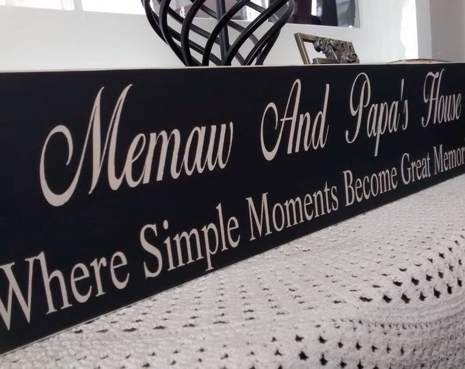 Grandparents Gifts, Grandparents simple moments sign, Christmas gifts for grandparents, farmhouse decor, grandmother gift, rustic decor