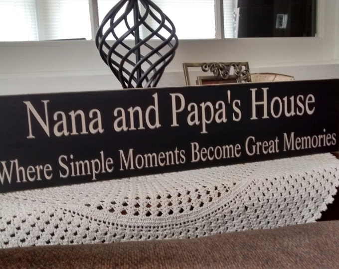 Nana and Papa's House, Personalized Grandparents Sign, Pregnancy Reveal to Grandparents, Gifts for Grandma, Grandpa Gift, Nana Sign, Grandma