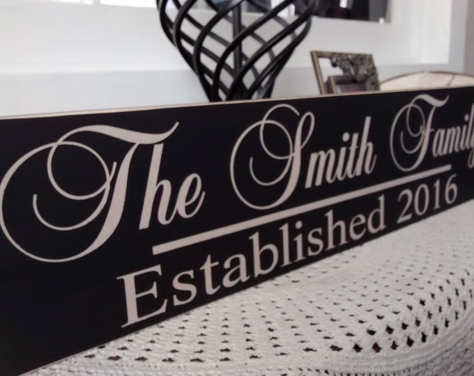 Family Established Sign - Last Name Established Sign - Personalized Name Signs - Wedding Gift - Anniversary Gift - Custom Wood Wall Art