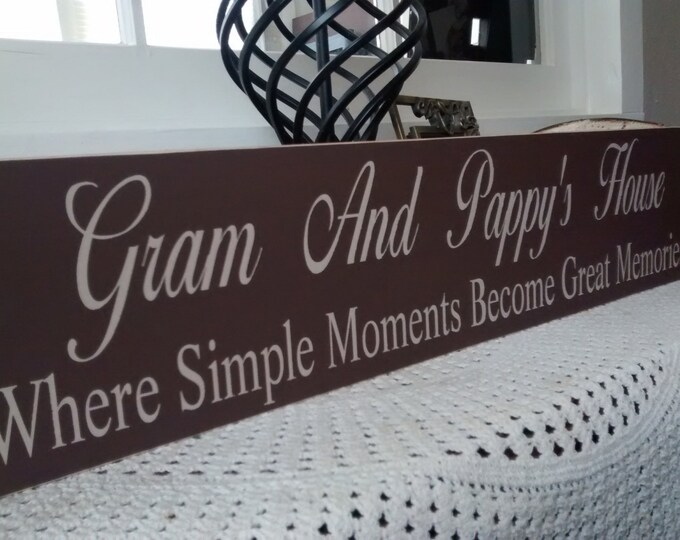 mothers day from daughter, Nana And Papa Sign, Gifts for Nana, add Grandparent Names, Where Simple Moments, wooden sign, Grandparent Gifts