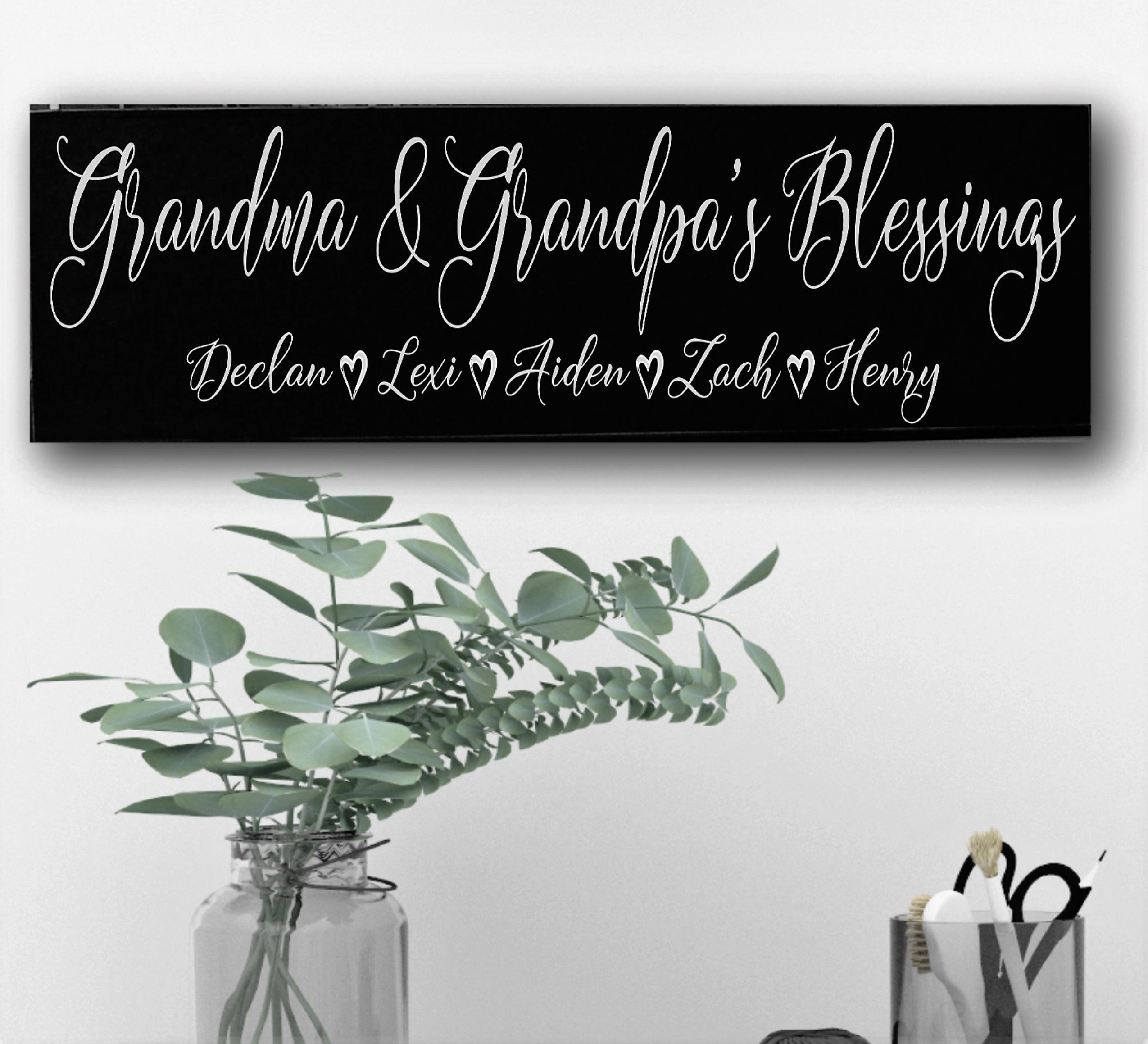 Personalized Gift For Grandma Grandparents Grandkids Sign