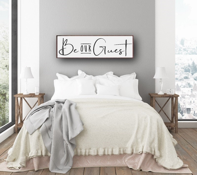 Guest Room Sign Decor: Guest Room Sign, Be Our Guest Sign, Guest Bedroom Decor