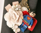 Custom Superhero, Minature figure Boutonnieres, Geek, Buttonholes, Wedding boutonnière, alternative, comics, buttonhole, wedding corsage