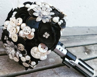 Bridesmaid, Sci-Fi Star space wars inspired wedding Bouquet, Made to order any colour, alternative, brooch bouquet, flower posey wedding