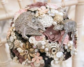 Sci-Fi Star space wars inspired wedding Bouquet, light up, any colour, alternative, brooch bouquet, flower posey wedding