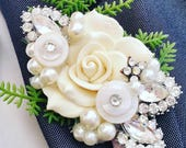bespoke brooch, flower, Alternative, ladies buttonhole, Grooms boutonniere, buttonhole, Wedding corsage, wedding accessories, corsage,