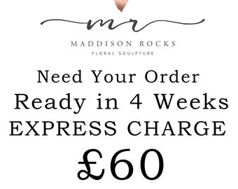 Have your order made and ready to despatch in 4 weeks Add On