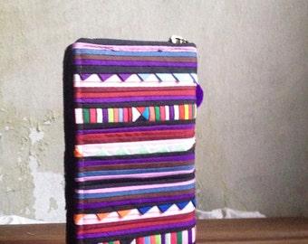 SALE Handmade Tribal Zippered Long Wallet